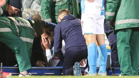 Bradley Dack was injured in the 65th minute of Blackburn's 0-0 draw with Wigan in the Championship on Monday