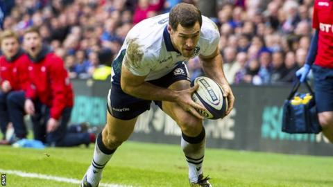 Scotland winger Tim Visser