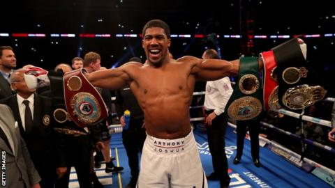 Anthony Joshua: 'I'm willing to fight Deontay Wilder' in 2019