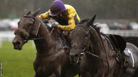 Kerry Lee's horse Mountainous at Chepstow