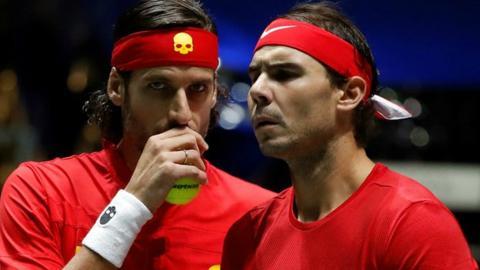 Feliciano Lopex and Rafael Nadal