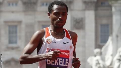 Bekele to face Kipchoge and Farah at London Marathon