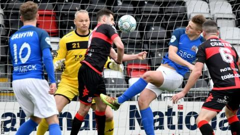 Andrew Mitchell's equaliser for Glenavon cost Crusaders two vital points