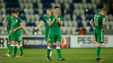 Republic of Ireland players in Georgia