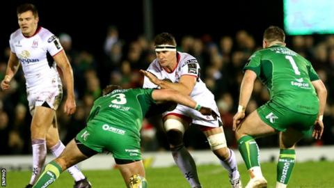 Robbie Diack in action for Ulster against Connacht last December