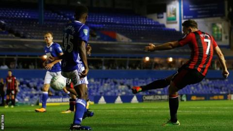 Marc Pugh scores Bournemouth's winning goal