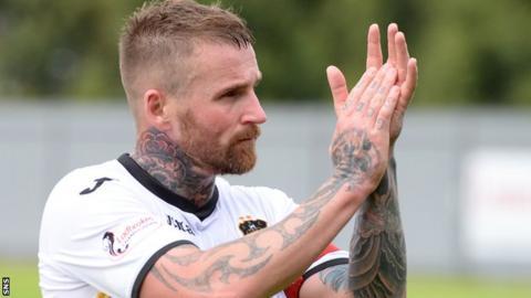 Dumbarton midfielder Ryan Stevenson