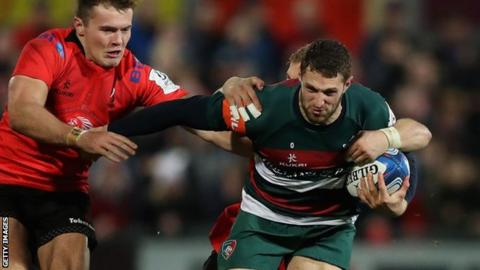 Wing or full-back Jonah Holmes has scored 10 tries for Leicester in 15 games