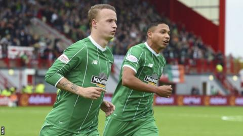 Leigh Griffiths and Emilio Izaguirre