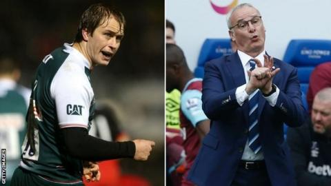 Leicester Tigers centre Mathew Tait (left) and Leicester City boss Claudio Ranieri