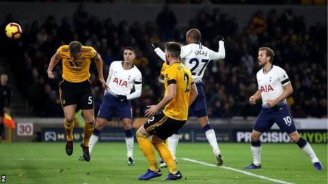 Lucas Moura headS Tottenham into a 2-0 lead