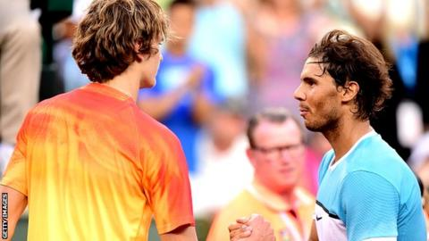 Alexander Zverev and Rafael Nadal