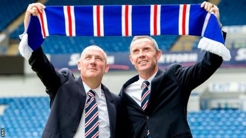 David Weir (right) has returned to Rangers as assistant manager to aid Mark Warburton