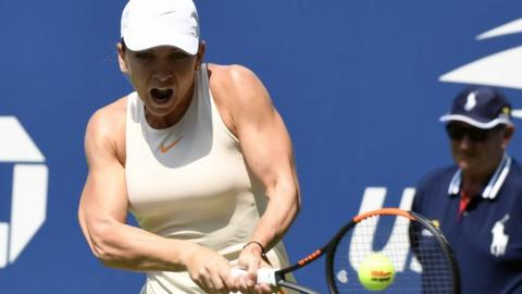 Us Open 2018 Simona Halep Knocked Out By Kaia Kanepi In First Round