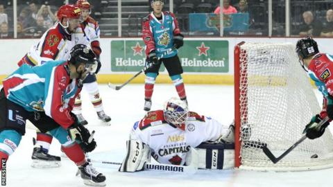 Mike Forney scored two goals for the Belfast Giants in the second period