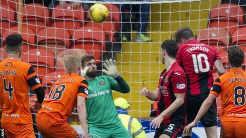Robbie Thomson scores Dumbarton's opening goal