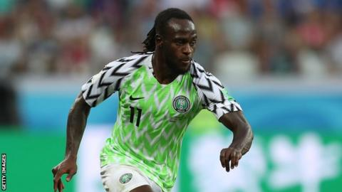 Victor Moses in action for Nigeria
