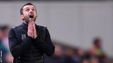 Stoke boss Nathan Jones shows his frustrations