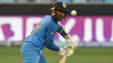 Dinesh Karthik in action for India
