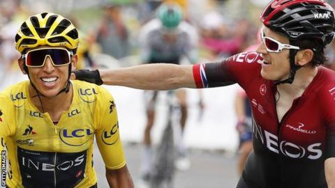 Tour de France 2019: Egan Bernal set to win from Geraint Thomas