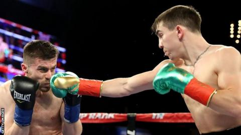 Michael Conlan, right, scored a second round stoppage against David Berna in his most recent fight