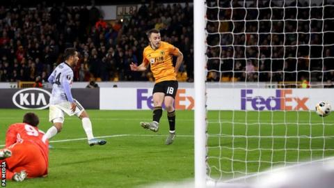Diogo Jota completes his hat-trick