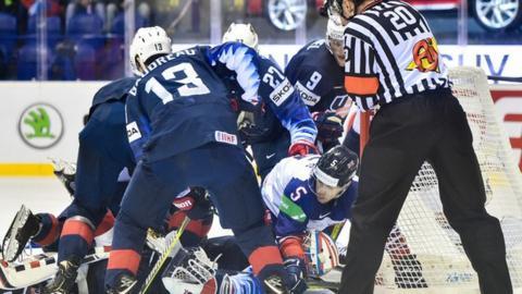 Ice Hockey World Championship Great Britain Beaten 6 3 By Usa In