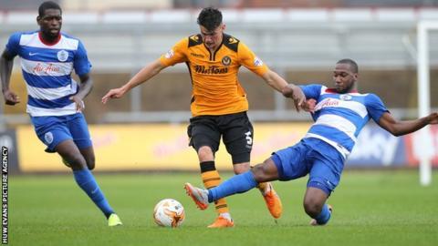 Regan Poole in action against QPR
