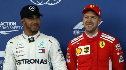 Lewis Hamilton (left) and Sebastian Vettel