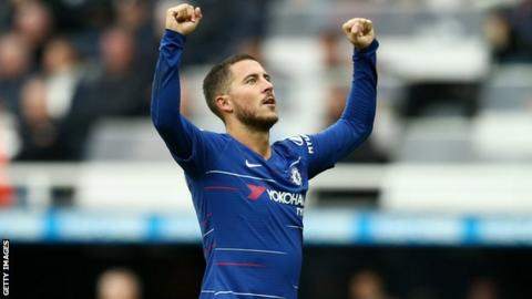 Hazard is happy at Chelsea - Essien