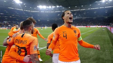 Liverpool's Van Dijk: Netherlands must be wary of struggling Germany