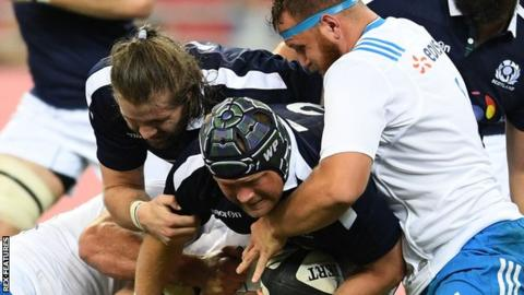 WP Nel in action for Scotland against Italy
