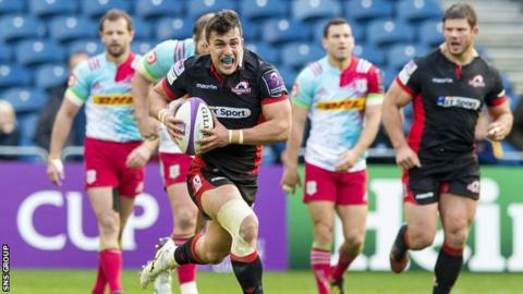 Edinburgh beat Harlequins at Murrayfield in the group stage