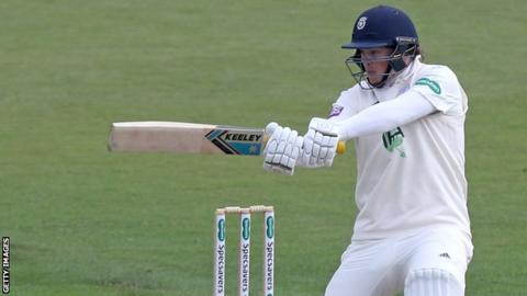 Hampshire batsman Sam Northeast plays a shot