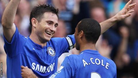 Frank Lampard and Ashley Cole in action for Chelsea