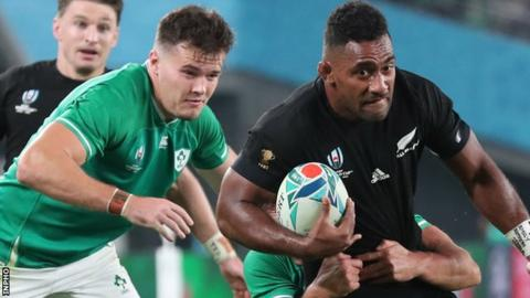 Ireland's World Cup hopes were ended by New Zealand