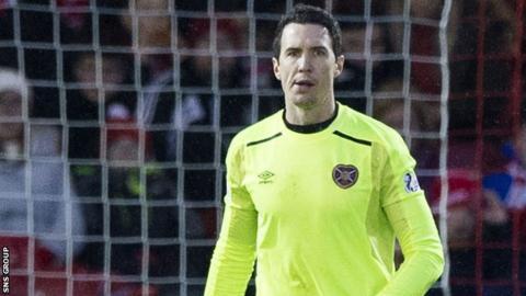 Hearts goalkeeper Jon McLaughlin