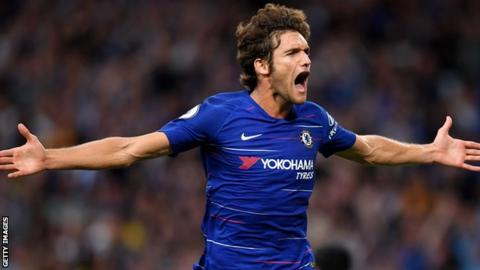 Marcos Alonso scored the winner for Chelsea against rivals Arsenal