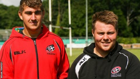 Rhys Brownfield (left) and Tommy-Lee Southworth