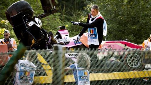 Anthoine Hubert crash