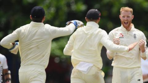 Ben Stokes celebrates a wicket