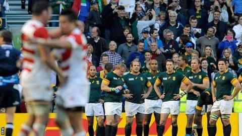 Japan beat South Africa in Brighton on Saturday