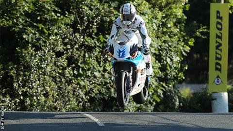 Michael Rutter on an electric motorcycle