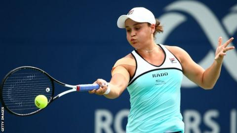 World number one Ashleigh Barty loses to Sofia Kenin in Rogers Cup