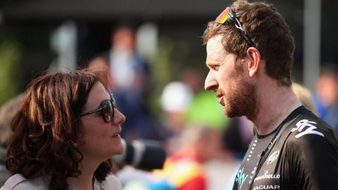 Cath and Bradley Wiggins