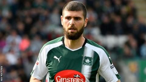 Nadir Ciftci playing for Plymouth Argyle.