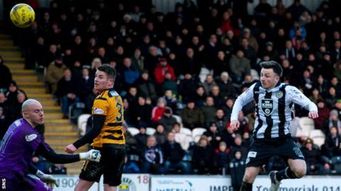 Callum Gallagher scores for St Mirren against Alloa Athletic