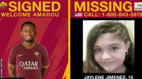 9386209c33f Roma launch missing child Twitter campaign - BBC Sport