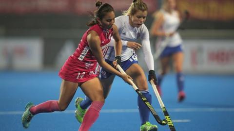 Sophie Bray battling for the ball