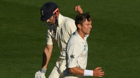 Alastair Cook and Trent Boult